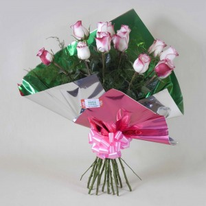 Ramo de rosas bicolor